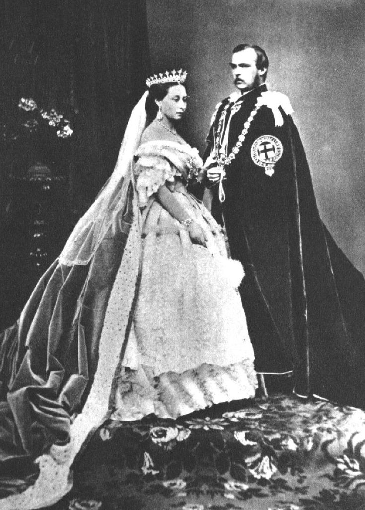 The Princess Alice (third child of Queen Victoria) with her husband Prince Louis of Hesse, 1863.