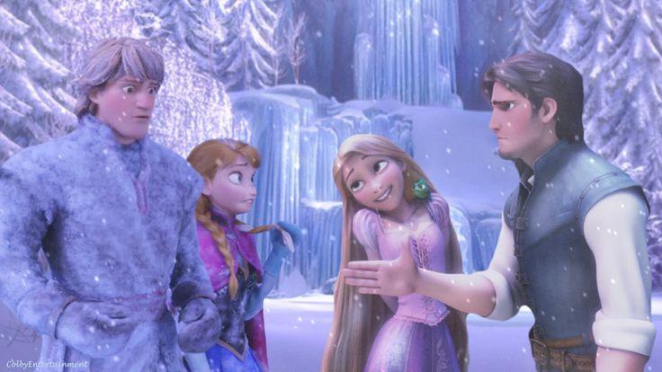 anna and elsa meet rapunzel