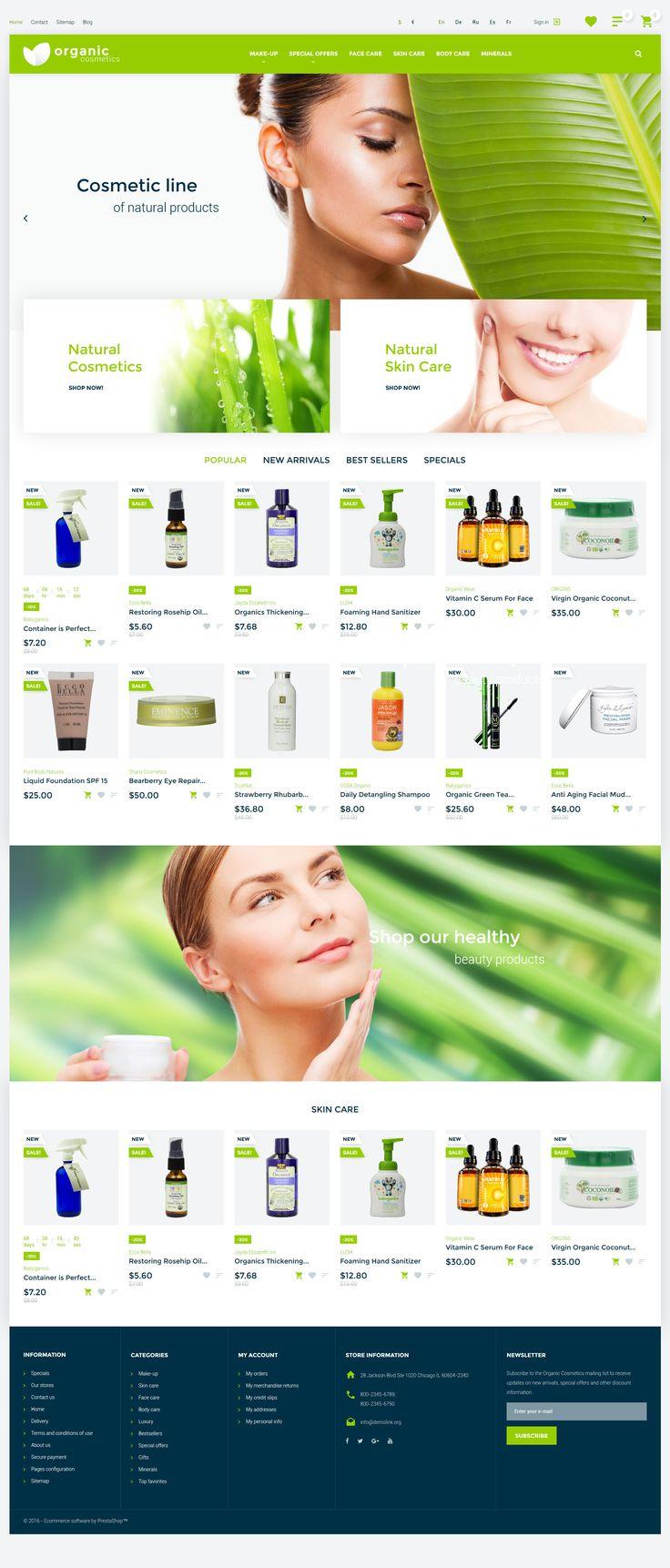 Organic Cosmetics PrestaShop theme http://www.templatemonster.com/prestashop-themes/organic-cosmetics-responsive-prestashop-theme-57540.html