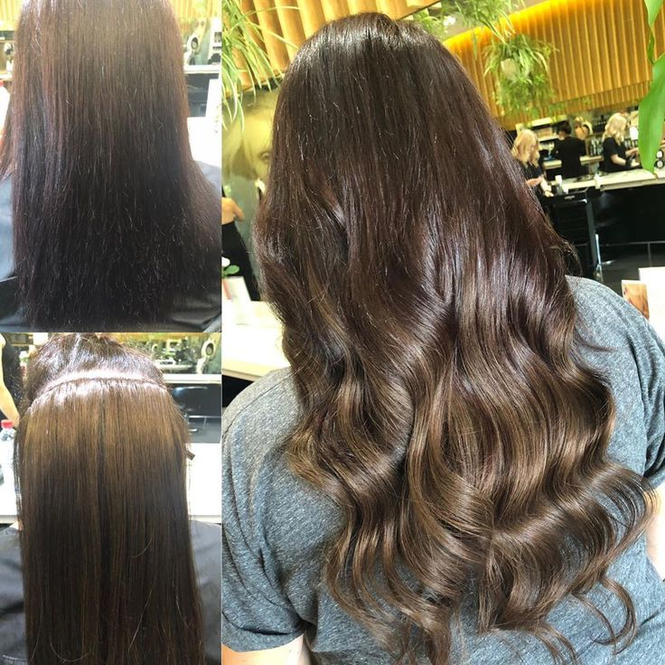 Seamless blend of flat track hair weft extensions …