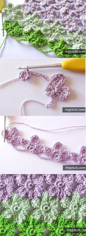 Hawaiian flower crochet tutorial
