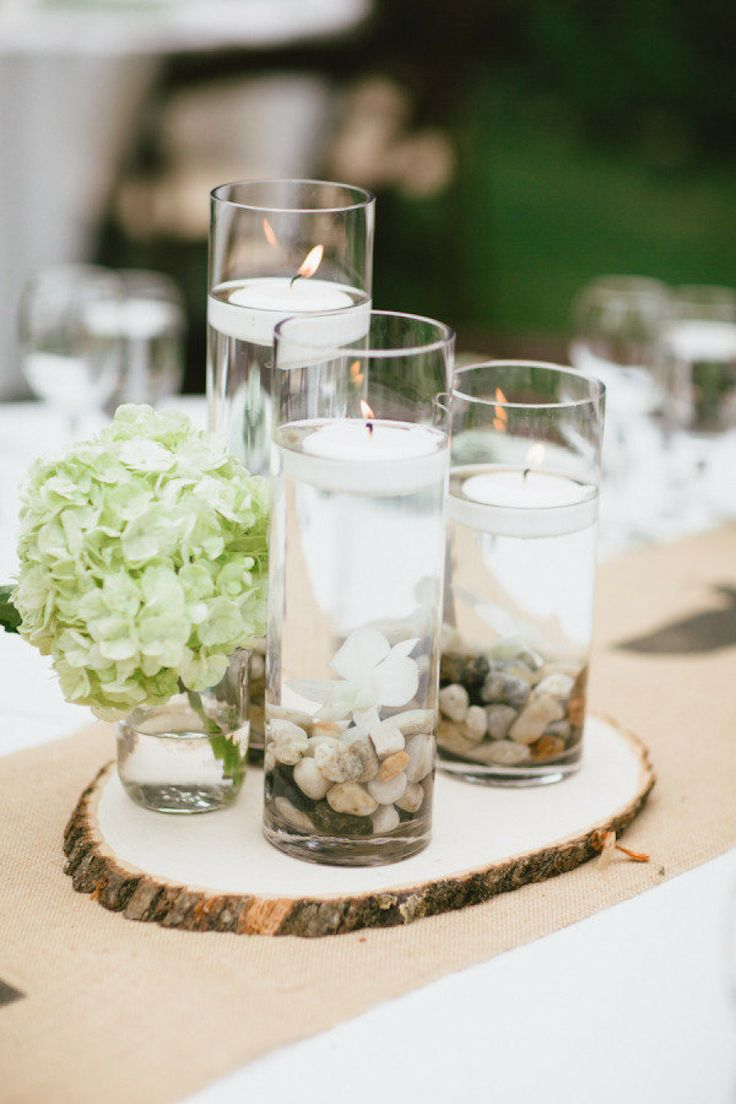 The best wood slab centerpiece ideas on pinterest