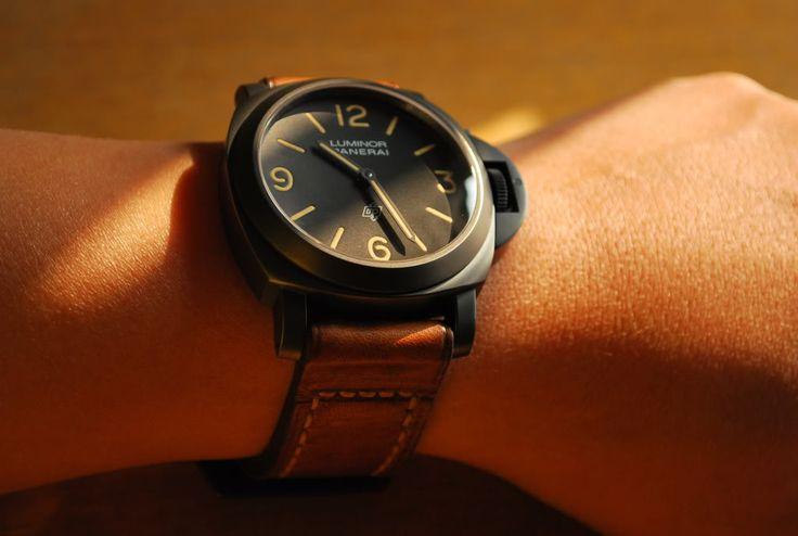 #black #panerai #watch #mens