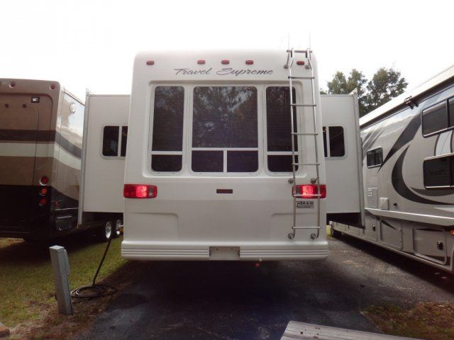 2006 Used Travel Supreme TRAVEL SUPREME 36RLT1 CLASSIC Fifth Wheel in Florida FL.Recreational Vehicle, rv, 2006 TRAVEL SUPREME TRAVEL SUPREME 36RLT1 CLASSIC, For more information call us at 1-(800)-RV SALES or (352)-368-2451. Year 2006 Make Travel Supreme Model Classic Model # 36RLT Have a question? Call us now at 1-(800)RV SALES or 352-368-2451 Color White with Graphics Slides 3 Width 8 Awning (A - M) Manual Jacks (A - M) Manual Exterior Ladder Yes Additional Features Ceiling Fan Colors…