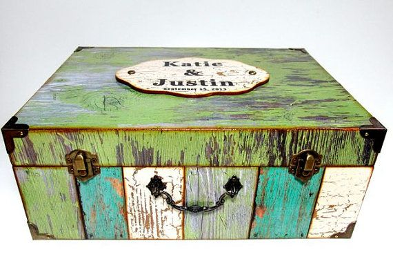 Wedding Card Box Heirloom Gift Personalized