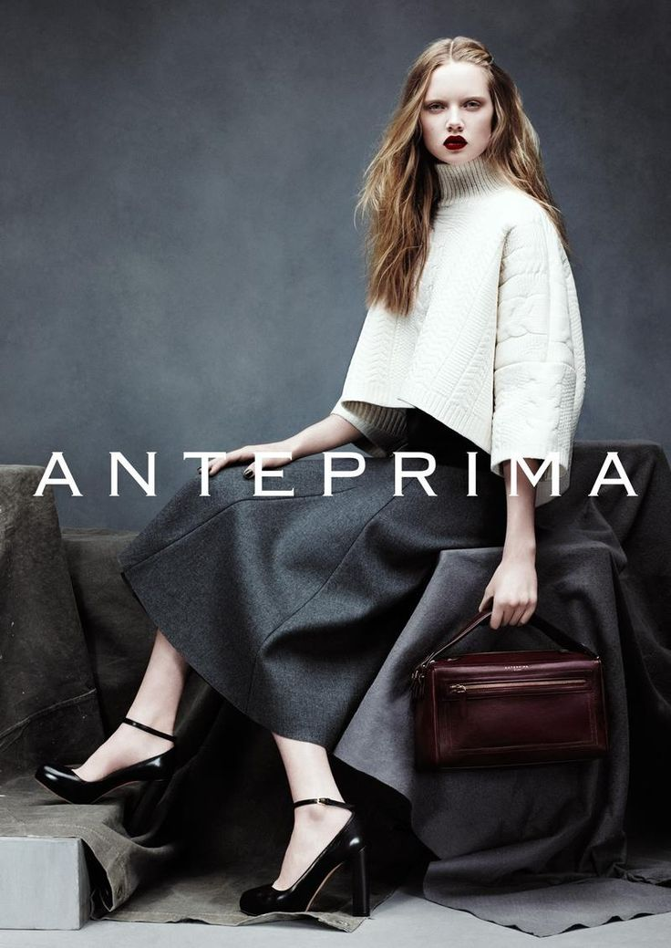 Holly Rose Emery for Anteprima Fall/Winter 2014-2015 campaign.