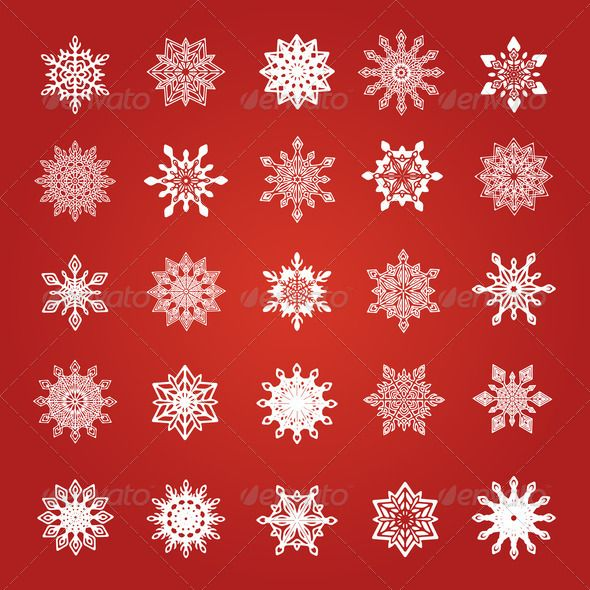 Set of Rounded Vintage Snowflakes ...  abstract, art, background, blizzard, card, celebrate, celebration, christmas, cold, crystal, december, decoration, design, elegant, element, frost, frozen, graphic, greeting, holiday, ice, illustration, january, new, nobody, ornament, ornate, pattern, postcard, red, retro, seamless, season, set, sky, snow, snowfall, snowflakes, star, symbol, traditional, vintage, wallpaper, weather, white, winter, xmas, year