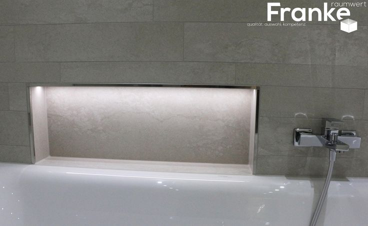 Ablage an der Badewanne mit Lichttechnik - Stonemix im Betonstyle  http://www.franke-raumwert.de/Fliesen/PrimeCollection/Construct-2389/ #Beton #Betonoptik #Fliesen #Wandfliesen #Bodenfliesen #Feinsteinzeug #Badezimmer #Wohnzimmer #Schlafzimmer #Eingang #Flur #Küche #Bad #GästeWC #Outlet #Onlineshop