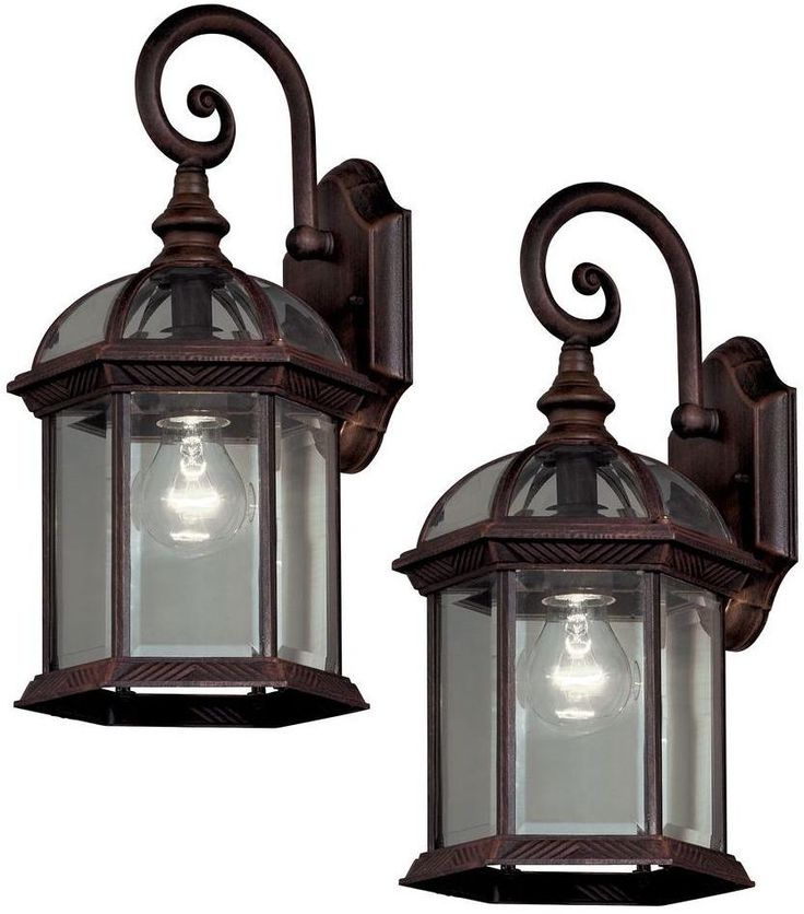 Bronze Hampton Bay Lantern Outdoor Exterior Fixture Wall Light Mount Shape  Lampu2026