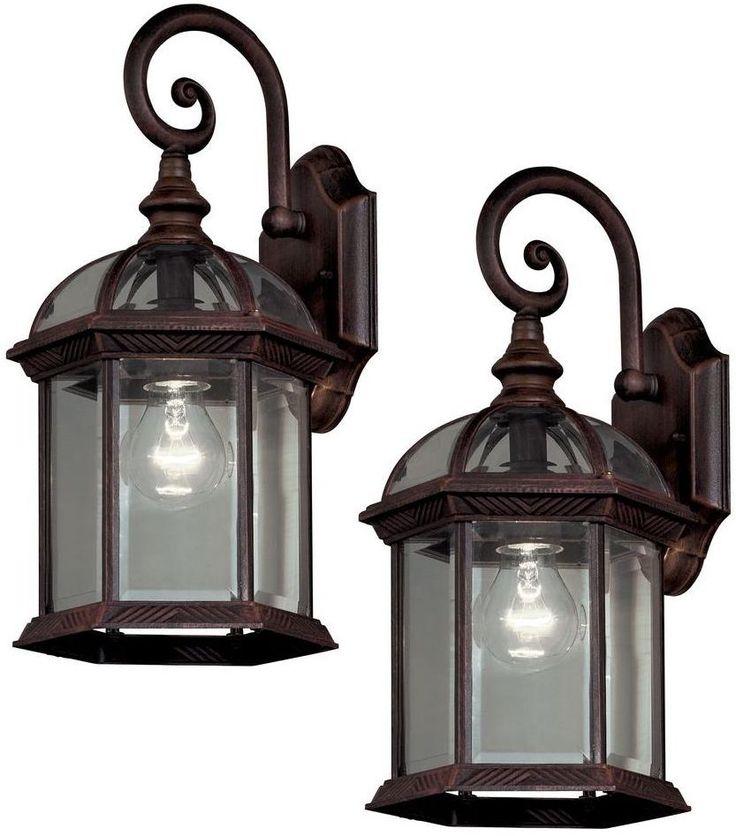 Hampton Bay Bronze Outdoor Wall Lantern Exterior Porch Light Sconce Fixture #BelAirLighting