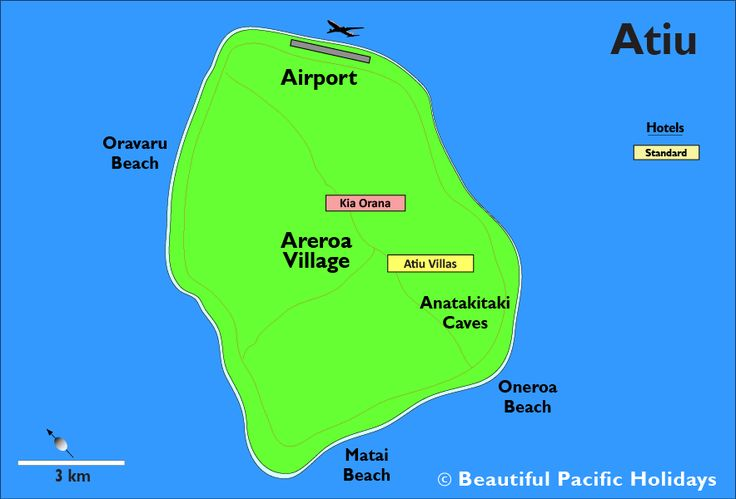 atiu accommodation locations COOK ISLANDS Pinterest Cook