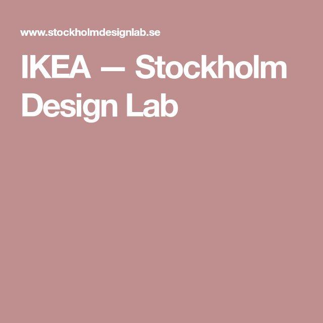 IKEA — Stockholm Design Lab