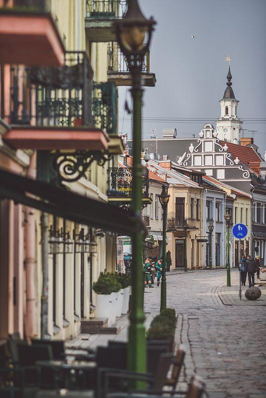 Morning   Kaunas Old Town   by A. Aleksandravičius