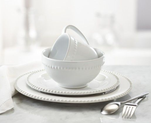 The Pearl White Dinnerware Set Has A Simple, Yet Sophisticated Design That  Makes Elegant Dining