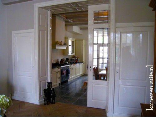 Kamer en suite als scheiding van de keuken