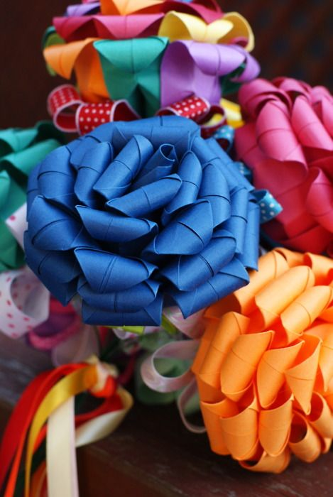 .: Rose Features, Bohemian Summer, Ribbons Flower, Theme Rose, Confetti Rose, Paper Flower, Carnivals Theme, Colors Bows, Paper Crafts