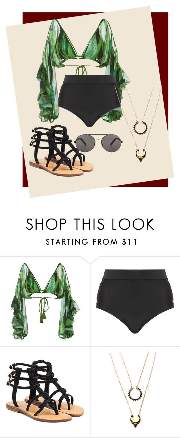"""""""Beach Party"""" by srybuttnotsry on Polyvore featuring Água de Coco, Cactus, Mystique and WithChic"""