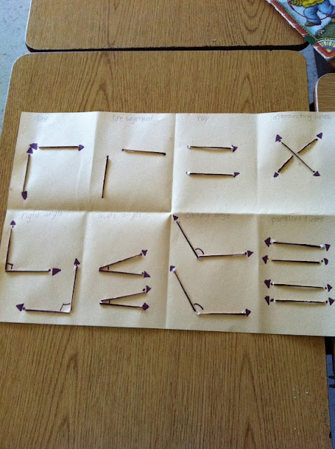 cute way to teach angles, line segments, perpendicular lines and parallel lines