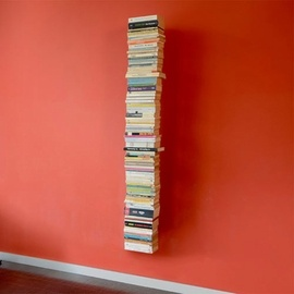 A bookcase that makes it seem like your books are floating on the wall, by German designer Michael Rosing.: Book Shelf, Radius Booksbaum, Booksbaum Wall, Big Wall, Wall Shelvess, Design Booksbaum, Booksbaum Big, Floating Bookca, Floating Bookshelf
