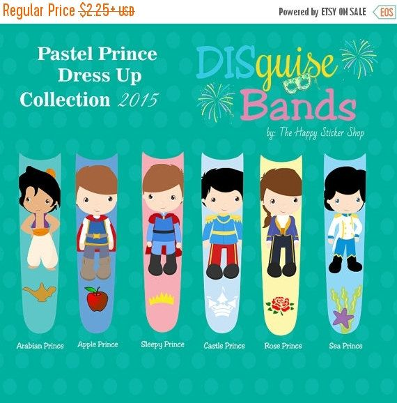 ANNIVERSARY SALE Pastel Prince Dress Up by TheHappyStickerShop