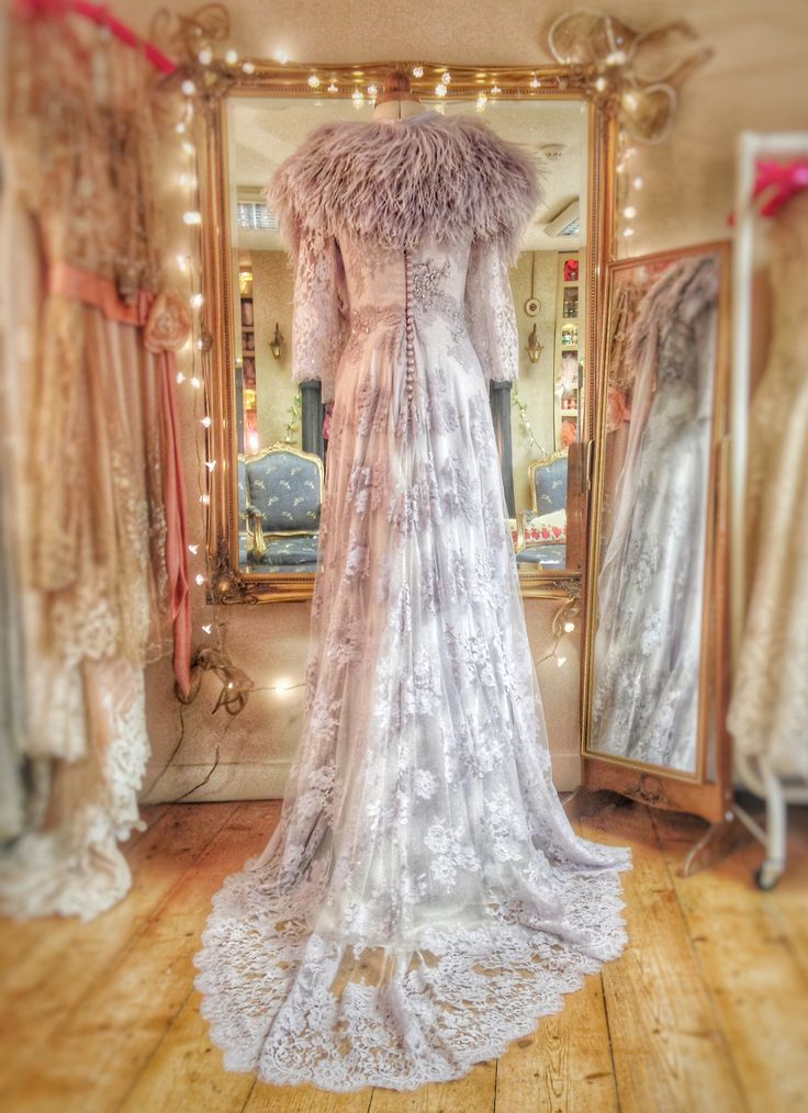 127 best images about full length wedding dresses by for Wedding dress with ostrich feathers