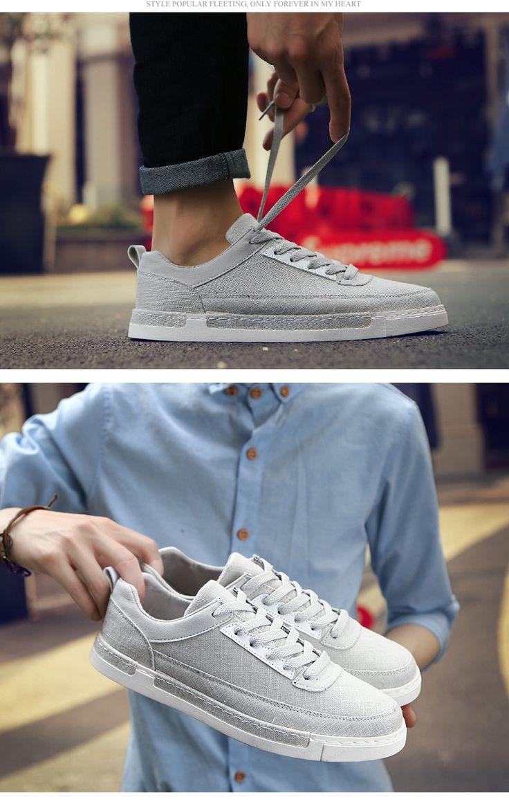Холст обувь мужчин приток летом обувь мужская повседневная обувь корейской версии британской моды обуви диких студент обувь дышащая мужчин -tmall.com Lynx