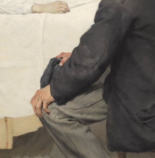 Henri Geoffroy, Visit day at the Hospital (detail), 1889