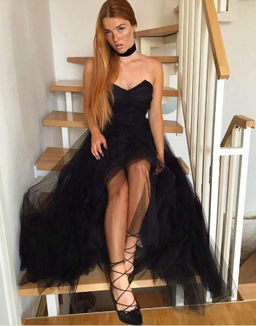 Charming Prom Dress, Sexy Black Evening Dress, Sleeveless