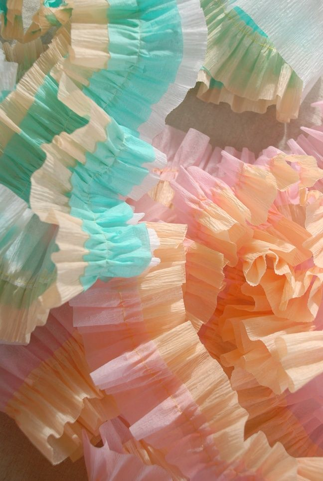 1000 images about diy crepe paper decorating on pinterest - Birthday decorations with crepe paper ...