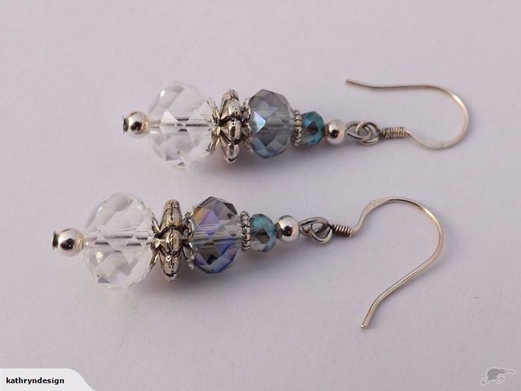 Clear & Multi Toned Crystal Earrings by Kathryn Design NZ Jewellery Retail for $10 NZD On Solid Sterling Silver Hooks