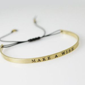 bracelet porte bonheur make a wish