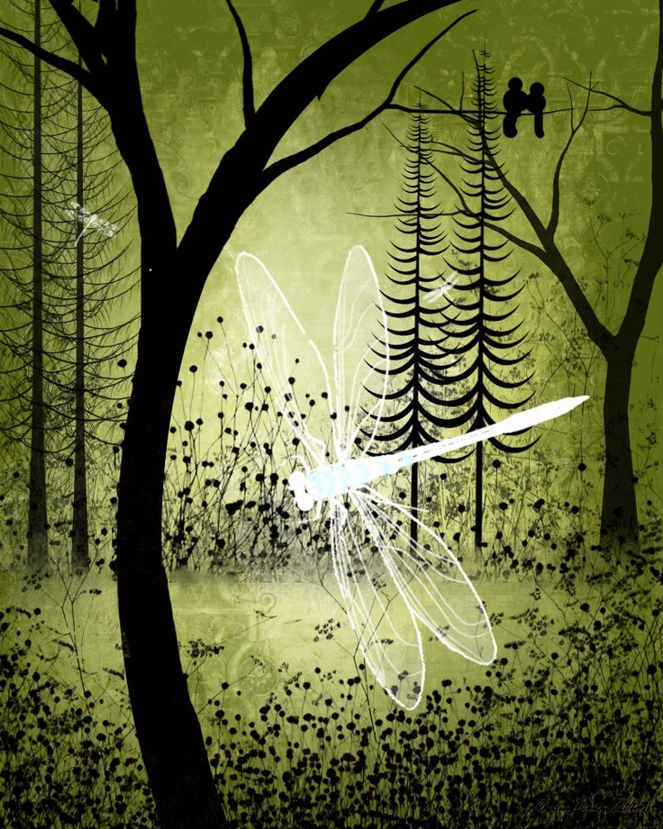 Enchanted -- Trees and Dragonflies