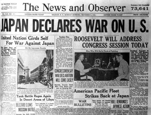 WW II headlines   ... photos posters artwork documents newspaper headline newspaper headline