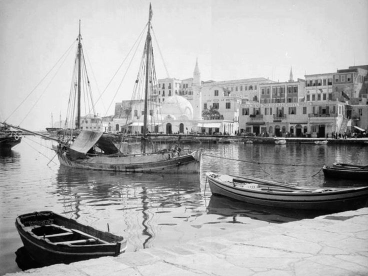 1900 παλιό λιμάνι Χανίων.