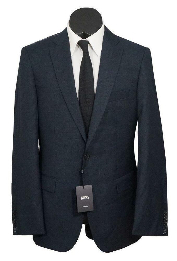 d99310e19 eBay #Sponsored New Hugo Boss Tailored T-Howard2/Court3 150S Wool Mens Suit  DarkBlue 40L