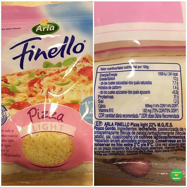 QUESO PARA PIZZA LIGHT FINELLO ARLA.  .  Supermercados: @hipercor, @carrefoures.  P.V.P: 2,25 euros.  .   @lvienrose.  .  #lacestadefranitahipercor #lacestadefranitacarrefour #heathyfranita #followme #follow #like4like #basicos #supermercado #quesolight #pizza