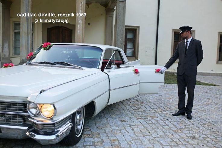 Cadillac Deville auto do ślubu www.fabrykaslubu.pl