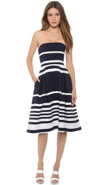 Nicholas Positano Stripe Ball Dress