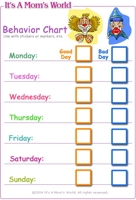 Best 25 behavior sticker chart ideas on pinterest for Behavior charts for preschoolers template