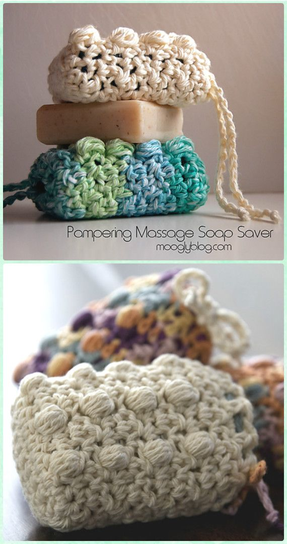 Crochet Pampering Massage Soap Saver Free Pattern - Crochet Spa Gift Ideas Free Patterns
