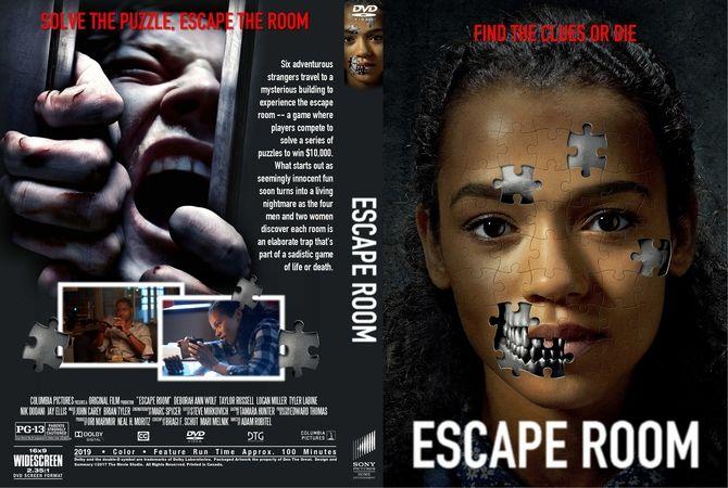 Escape Room 2019 Dvd Custom Cover Dvd Cover Design Custom Dvd Dvd Covers