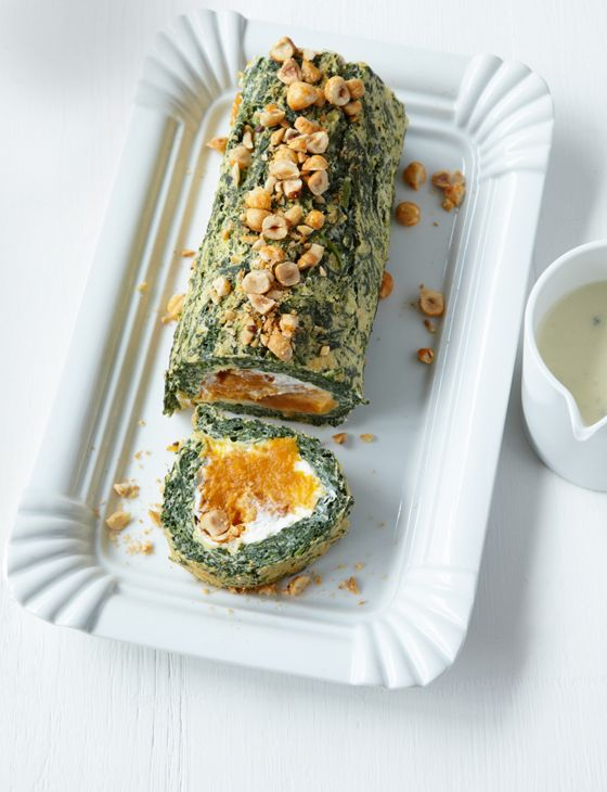 Spinach and butternut squash roulade by Tamsin Burnett-Hall