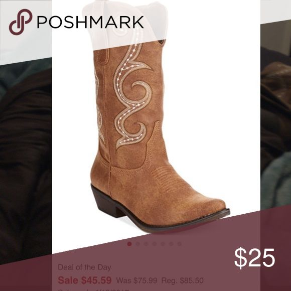 American rag women's size 9 cowboy boots American rag women's size 9 cowboy boots still online at Macy's for $45.49 --- these are new tried on only American Rag Shoes Ankle Boots & Booties