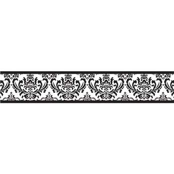 Sweet jojo designs black and white isabella wall border overstock shopping big discounts on sweet jojo designs wall decor