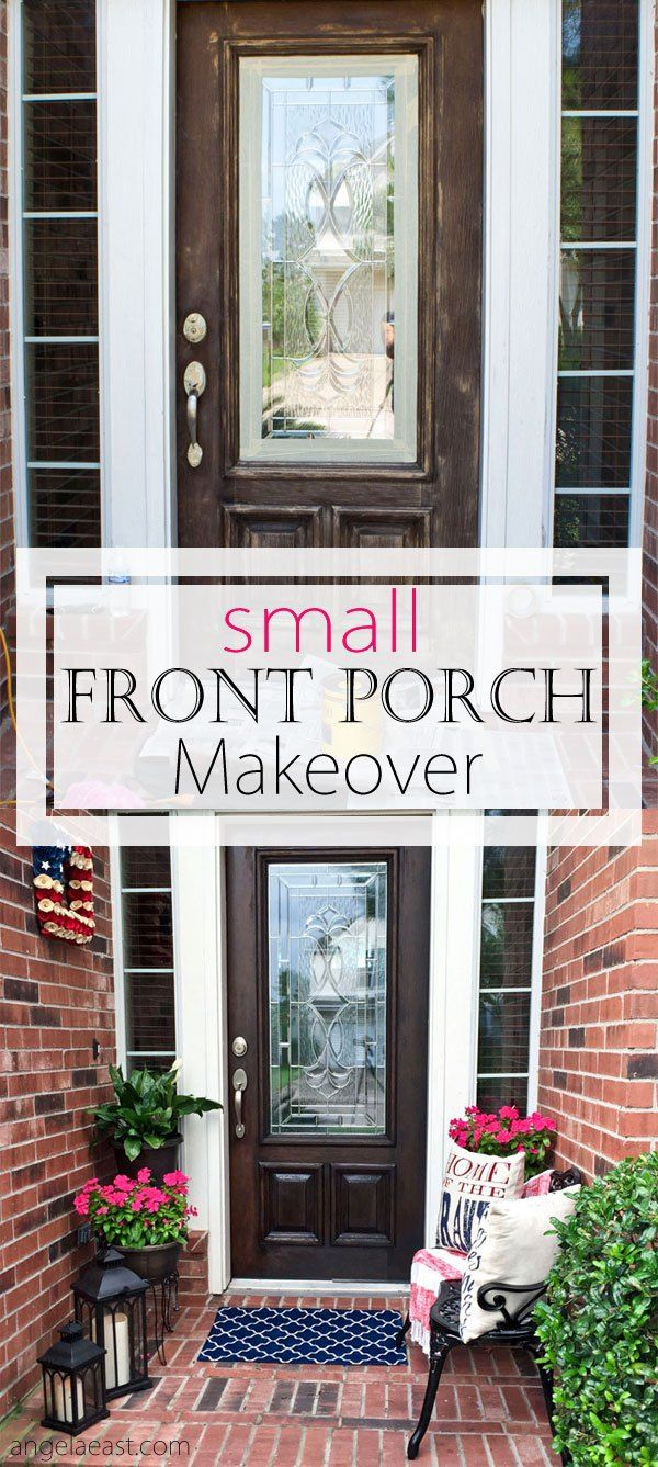 How To Decorate A Small Front Porch Angela East Small Front Porches Decorating Ideas Front Porch Decorating Small Front Door Entry