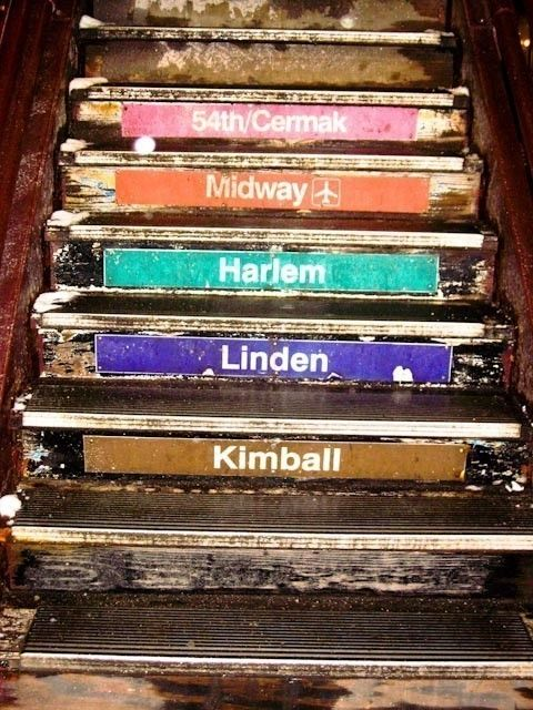 Chicago Train Steps