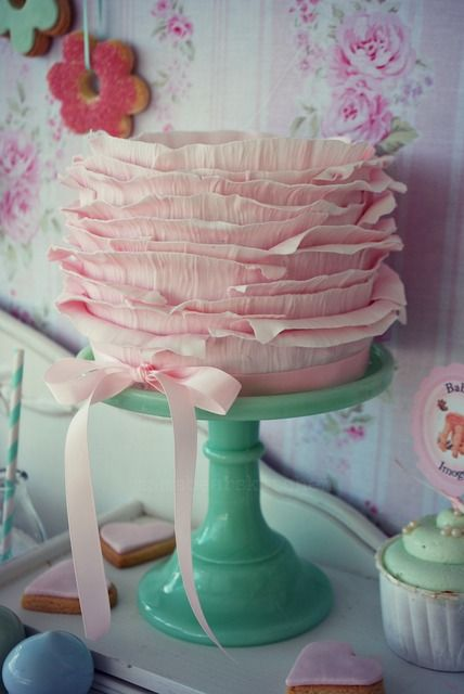 Shabby Pink and Mint Baby Shower Baby Shower Party Ideas | Photo 20 of 79 | Catch My Party
