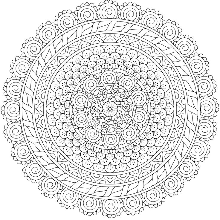 this is pixie den a free printable coloring page from mondaymandalacom mandala coloring pagesadult