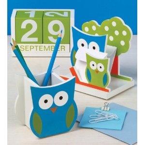 Design Ideas 3484211 Owl Office Desk Set