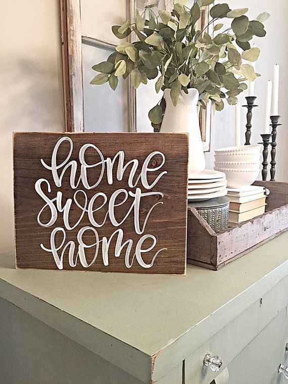 Home Sweet Home  Housewarming  First Home  by SalvagedChicMarket